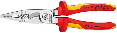 Knipex 13 86 200 VDE Insulated Electrical Multifunctional Combination Pliers