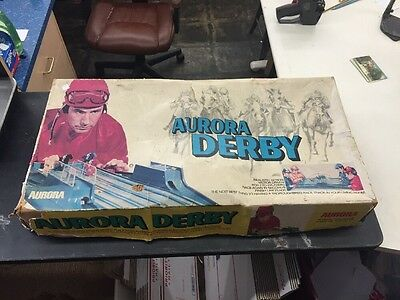 1972 Aurora Derby Plastic Action Game With Box