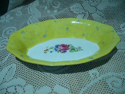 PARAGON ENGLAND LOVELY VINTAGE FLORAL SMALL SERVING DISH c1933 / 34 - GC