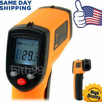 HH Non-Contact LCD IR Laser Infrared Digital Temperature Thermometer Gun FF