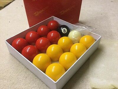 2inch pool balls yellow and red