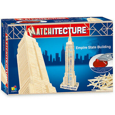 Matchitecture 6647 Empire State Building 650 Pieces Wood Wooden Model Making Kit