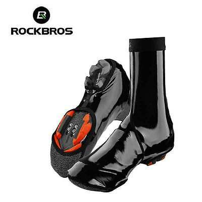 RockBros Cycling Shoe Cover Winter Warm Windproof PU Protector Overshoes