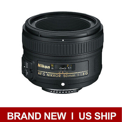 Brand New Nikon AF-S Nikkor 50mm f/1.8G Lens for Digital SLR Camera Body