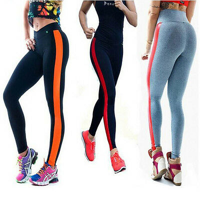 Women Yoga Sports Pants Active Apparel Leggings Running Gym Fitness Trousers New