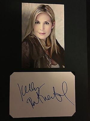 Kelly Rutherford hand signed autograph actress