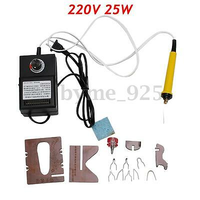 25W 220V Gourd Wood Multifunction Pyrography Machine Heating Wire Pen Kit Tool