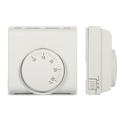220V Adjustable Thermostat Mechanical Temperature Controller Switch White AU