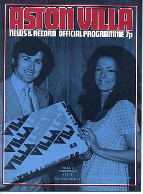 Aston Villa HOME programmes 1972/73 2nd Division inc. Charity Shield + others