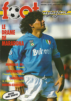 Foot magazine n°94 aout 1989 avec poster