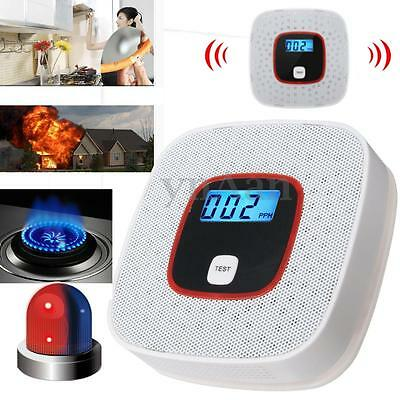 Voice Warning LCD CO Carbon Monoxide Tester Poisoning Gas Sensor Alarm Detector