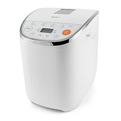 electriQ Digital Automatic Bread Maker with 14 programmes in Stunning White