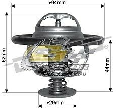 DAYCO Thermostat(inc seal)FOR Holden Jackaroo 3/98-9/99 3L Turbo Diesel U8 4JX1