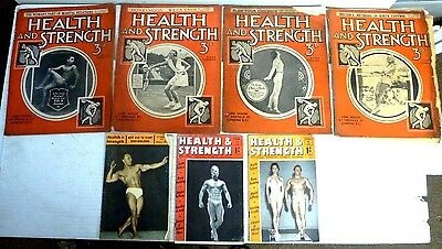 Vintage Health and Strength Magazines 1932/33/57/58