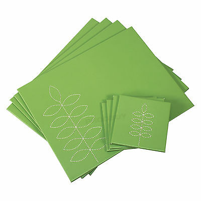 Set of 4 Placemats & Coasters Table Settings Mats Green Floral Faux Leather