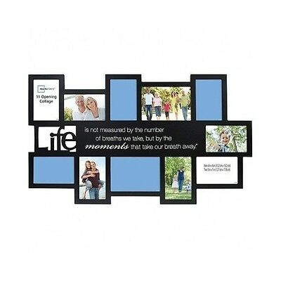 Black Collage Frame Multi Picture Frames 11 Wall Art Home Large Framing Photo
