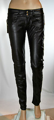Jeans Pantaloni Donna Ecopelle MET Angel/P Made in Italy CA01 Tg 27