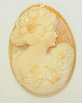 """Vintage Antique Hand Carved Loose Cameo 1-1/4""""x1-3/4"""""""