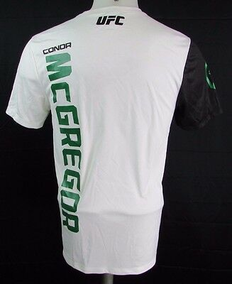 Conor McGregor Men's S-2XL Official Fighter Kit Jersey MMA Reebok White A14bx