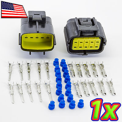 [1x] Denso 10P 2 x 5 Pin Waterproof 16-20AWG Rugged Automotive Connector IP67