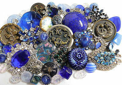 Antique Vintage Collectible Button Lot~Picture~Rhinestone~Glass~Mythical~Dragon