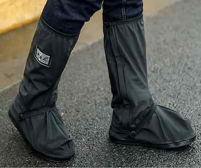 Black Waterproof Motorbike Shoe Boot Cover Motorcycle Rain Protect L/XL/XXL
