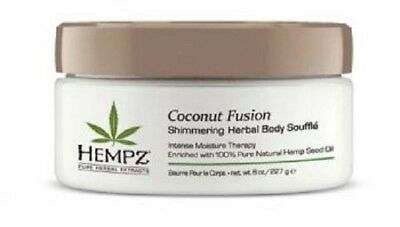 Brand New Tanning Lotion HEMPZ® COCONUT FUSION SHIMMERING HERBAL BODY SOUFFLÉ