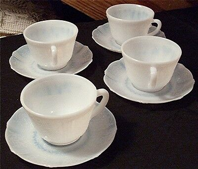 4 Vtg Macbeth-Evans American Sweetheart Monax Depression Glass Cups Saucers