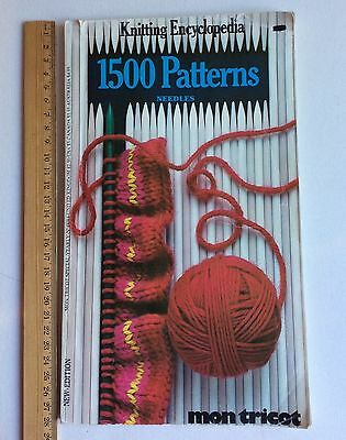 Mon Tricot Knitting Encyclopedia Book How To Stitches Patterns Instruction1984