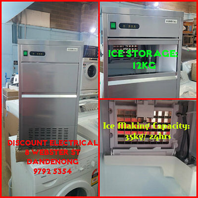 ICE MAKER Commercial ICE MAKER / MACHINE 35KG 24h 12KG ICE STORAGE WE OPEN 7DAYS