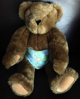 """Brown Vermont Teddy Bear Fully Jointed 15""""  EXCELLENT & CLEAN"""