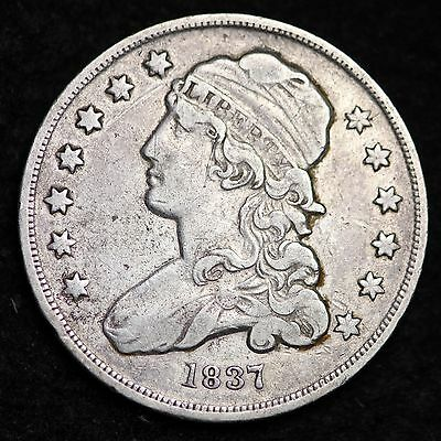 1837 Capped Bust Quarter CHOICE XF FREE SHIPPINGE675 CCM