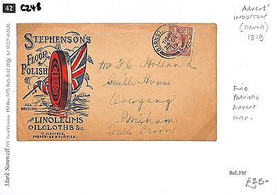 C248 1919 Devon/Advert/Industry - Fine Patriotic Advert Cover