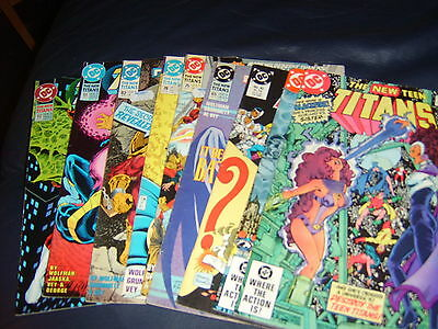The New Titans Nine Issue Lot 1982/93