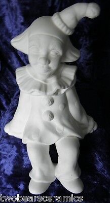 Ceramic Bisque Ready to Paint  Jack the shelf Clown