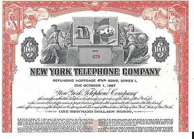 New York Telephone Company.....mortgage Bond Due 1997