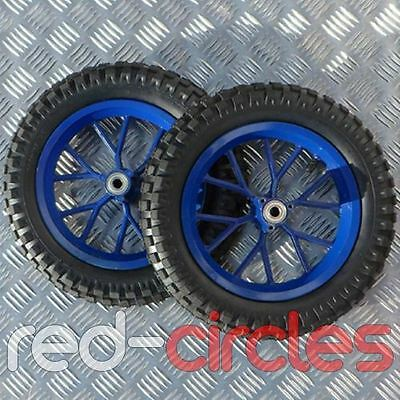 BLUE MINIMOTO / MINI MOTO DIRT BIKE WHEELS & 12.5 x 2.75 TYRES SET