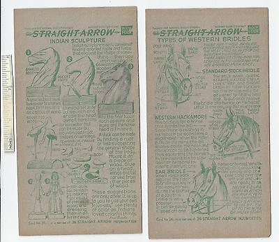 #29 Lot of 6 Diff 1952 NABISCO INJUN-UITY Cards Book #4 Cereal Straight Arrow