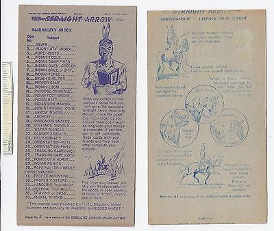 #1 Lot of 6 Diff 1949 NABISCO INJUN-UITY Cards Book #1 Cereal Straight Arrow Old