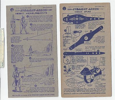 #22 Lot of 6 Diff 1950 NABISCO INJUN-UITY Cards Book #2 Cereal Straight Arrow