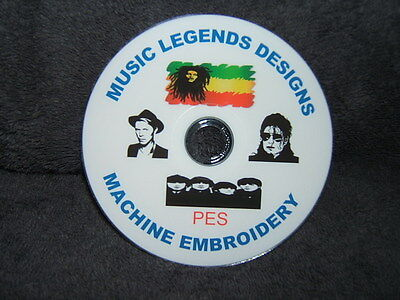 Music Legends pes Machine embroidery designs on cd / dvd disc