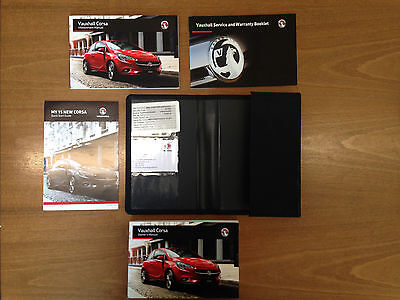 Vauxhall Corsa E Genuine Owners Manual Handbook + Service Book 2015-2016
