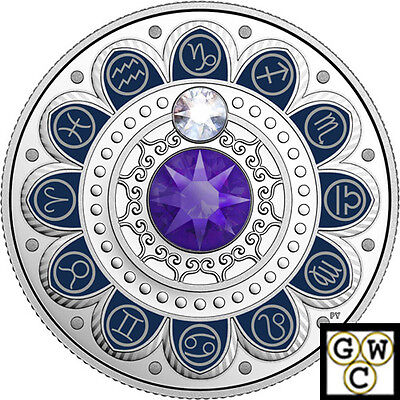 2017 'Capricorn-Zodiac Series' Crystalized Prf $3 Silver Coin .9999Fine(17936)NT