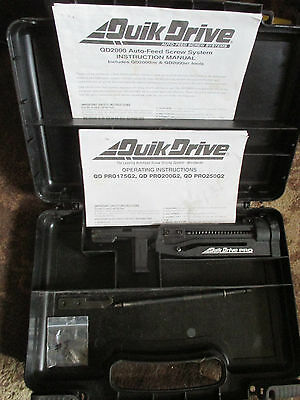 """Quik Drive Pro Autofeed Attachment Model PRO300G2 With Case. For 3"""" Screws"""