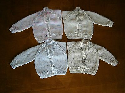 New Hand Knitted Baby Cardigans - up to 3 months (14lbs)