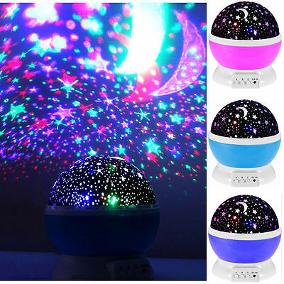 Rotating Star Light LED Starry Night Sky Projector Lamp Cosmos Master Kids Gift