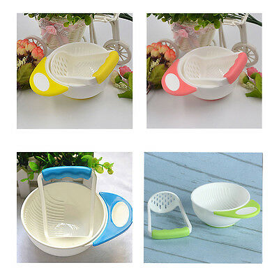 New Useful Baby Food  Grinding Bowl Supplement Fruits and Vegetables Masher Bowl