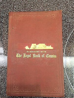 The Royal Bank of Canada Passbook [ 1930's ] ?