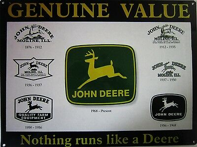 John Deere Logo Collage Genuine Value Metal Sign