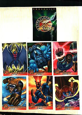 1996 Fleer  Marvel X-Men Trading Cards  100 Card Set Ex. To Near Mint Condition